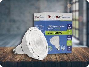 E27 Żarówka LED 8W (450 lm), PAR20