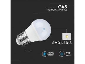 E27 Żarówka LED 4W (320 lm), G45 (Barwa Swiatla Zimna biała      6400K)