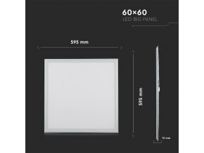 Panel LED 36W, kwadrat 60X60 CM (4320LM), premium A++ (Barwa światła biała zimna)