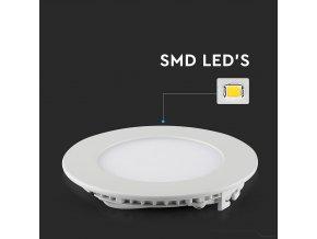 Panel LED 18W (1500 LM), okrągły (Barwa Swiatla Zimna biała   6400K)