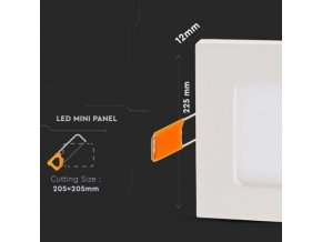 Panel LED 18W (1500Lm), kwadratowy