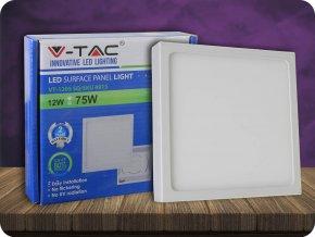 Panel natynkowy LED z zasilaczem, 12W, 900lm, kwadratowy PREMIUM