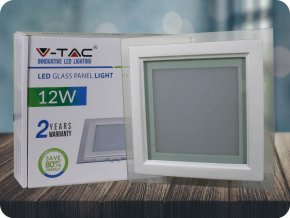 Panel LED 12W (840 lm), szklany