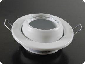 Oprawa na GU10, okrągła, nastawna, biała