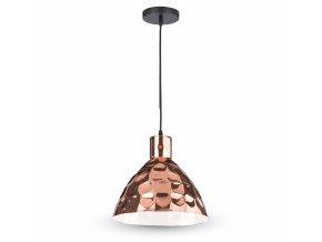 Lampa wisząca LED, E27, miedź, średnica 300mm
