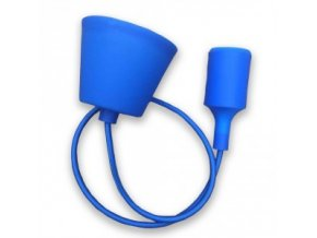 Lampa wisząca LOFT E27 z rozetą, niebieska