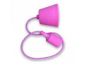 Lampa wisząca LOFT E27 z rozetą,  różowa