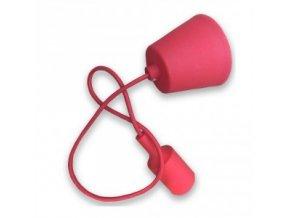 Lampa wisząca LOFT E27 z rozetą, czerwona