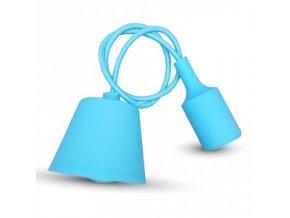 Lampa wisząca LOFT E27 z rozetą, błękitna