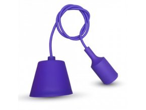 Lampa wisząca LOFT E27 z rozetą, fioletowa