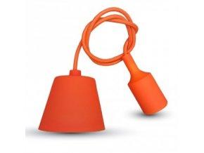 Lampa wisząca LOFT E27 z rozetą, pomaranczowa