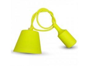 Lampa wisząca LOFT E27 z rozetą, żółta