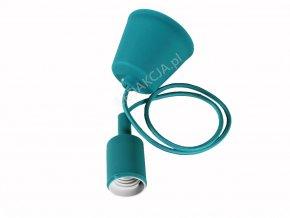 Lampa wisząca LOFT E27 z rozetą, zielona