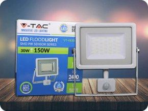 Naświetlacz LED 30W z czujnikiem ruchu (2400LM), biały