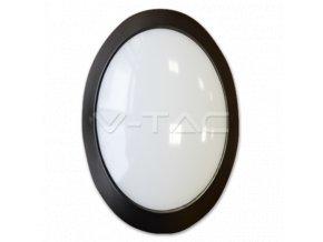 Plafon LED 12W, owalny, czarny