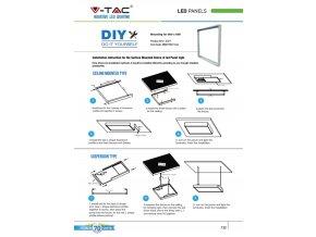 Aluminiowa rama montażowa na ścianu do Paneli LED - kwadrat 600X600MM
