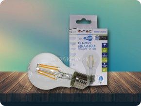 E27 LED Retro Filament Żarówka 4W, A60, 2700K