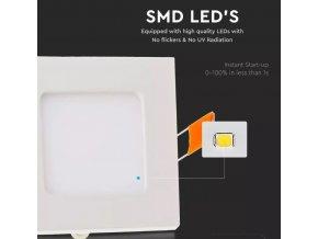 Panel LED 3W (210lm), kwadratowy (Barwa Swiatla Zimna biała   6400K)