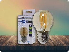 E27 LED Retro filament Żarówka 4W, G45, biała ciepła 2200K