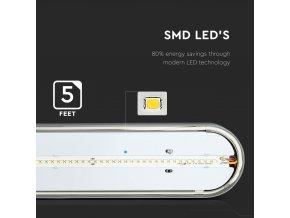 LED IP65 Lampa PC/PC 1500mm 48W (Barwa światła biała zimna 6400K)