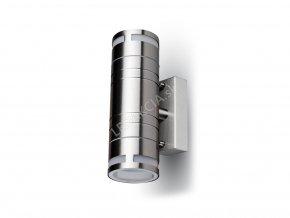 Lampa ścienna kinkiet GU10 LED szklana, podwójna