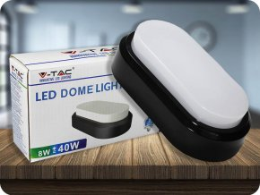 LED Plafon / Lampa ścienna 8W, 560lm, czarna