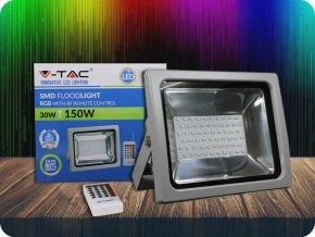 Naświetlacz LED RGB, 30W (2400 LM), RF