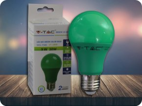 E27 LED kolorowa Żarówka 9W (310LM) - zielona
