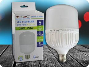 E27 LED ŻARÓWKA 24W (2080 lm), T100