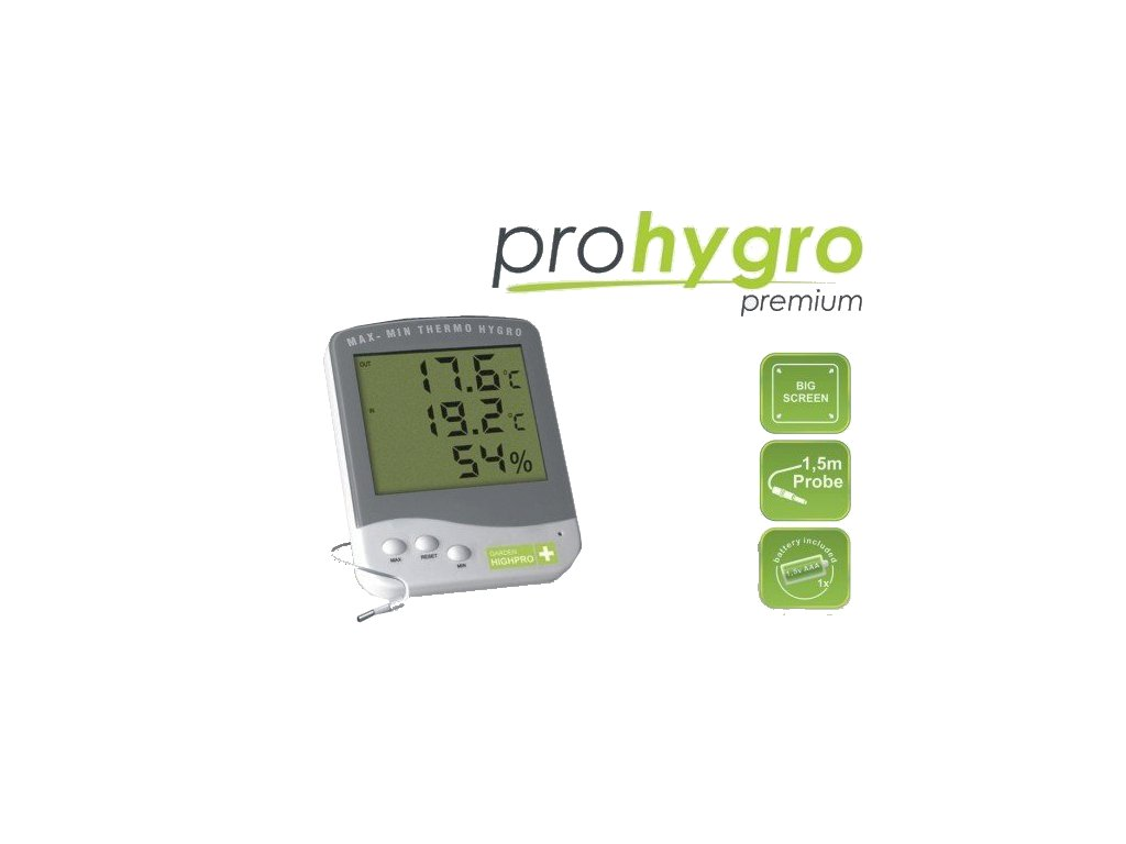 Digital Thermo Hygro meter PREMIUM with probe