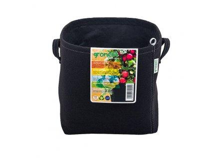 12735 2 gronest textile flower pot 11l aqua breathe