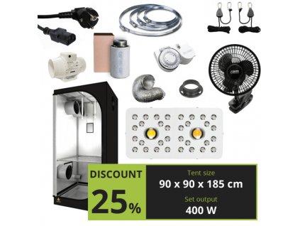 BASIC 400W (90X90X185CM) + Optic 2 GEN3 COB LED