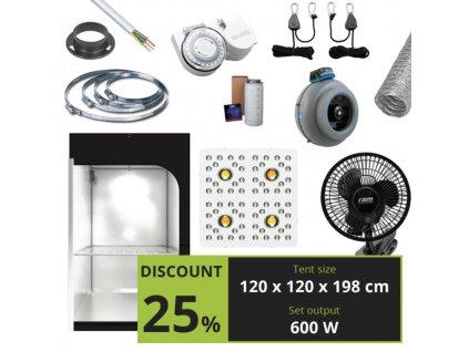 BASIC 600w (120x120x198 cm) + Optic 4 GEN3 COB LED