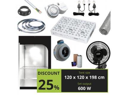 BASIC 600W (120X120X198 CM) + OPTIC 6 GEN3 COB LED