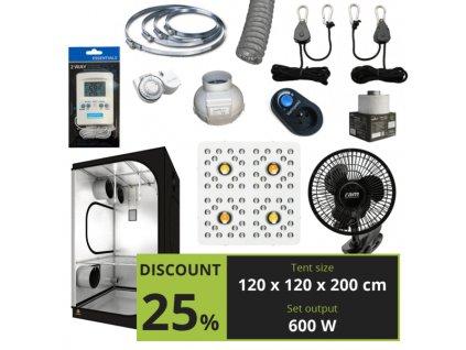 MEDIUM 600w (120x120x200cm) + Optic 4 GEN3 COB LED