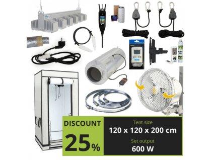 EXPERT LED 600w + CO2 (120x120x200cm)