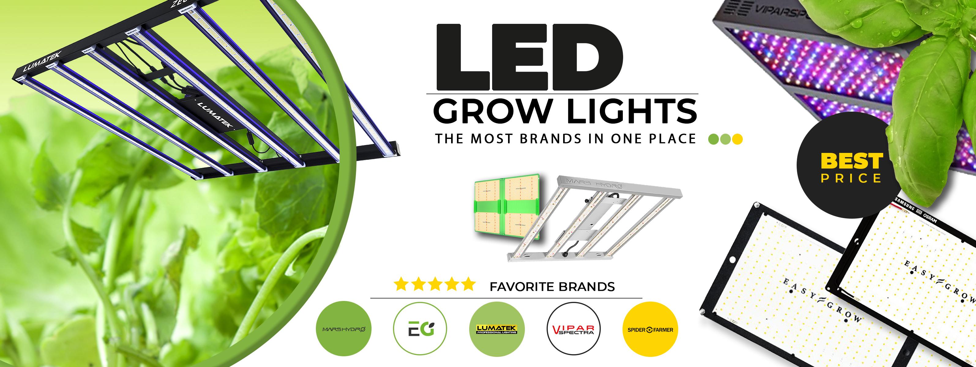 Led Grow Lights favorite brands
