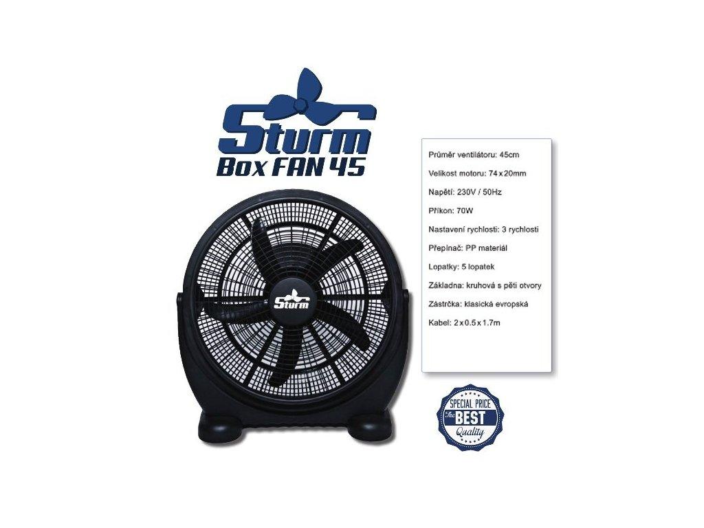 2382 cirkulacni ventilator sturm boxfan prumer 45cm