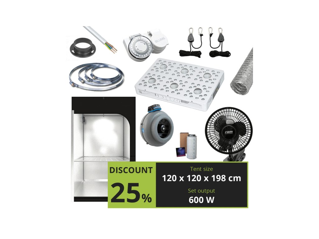 OPTIC 6 COB LED Grow Light 605W (UV/IR) 3000k & 5000k COBs