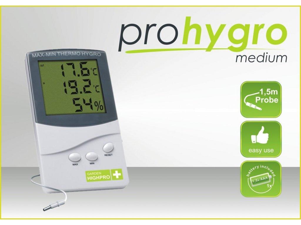 Digital Thermo Hygro meter MEDIUM with probe