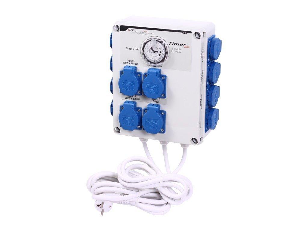 GSE Timer Box II - 12x600W / 220V - LedGrowShop
