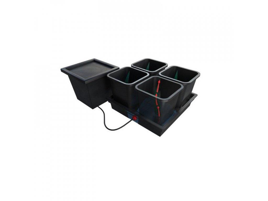 Quadgrow Passive Hydroponic System for 4 plants