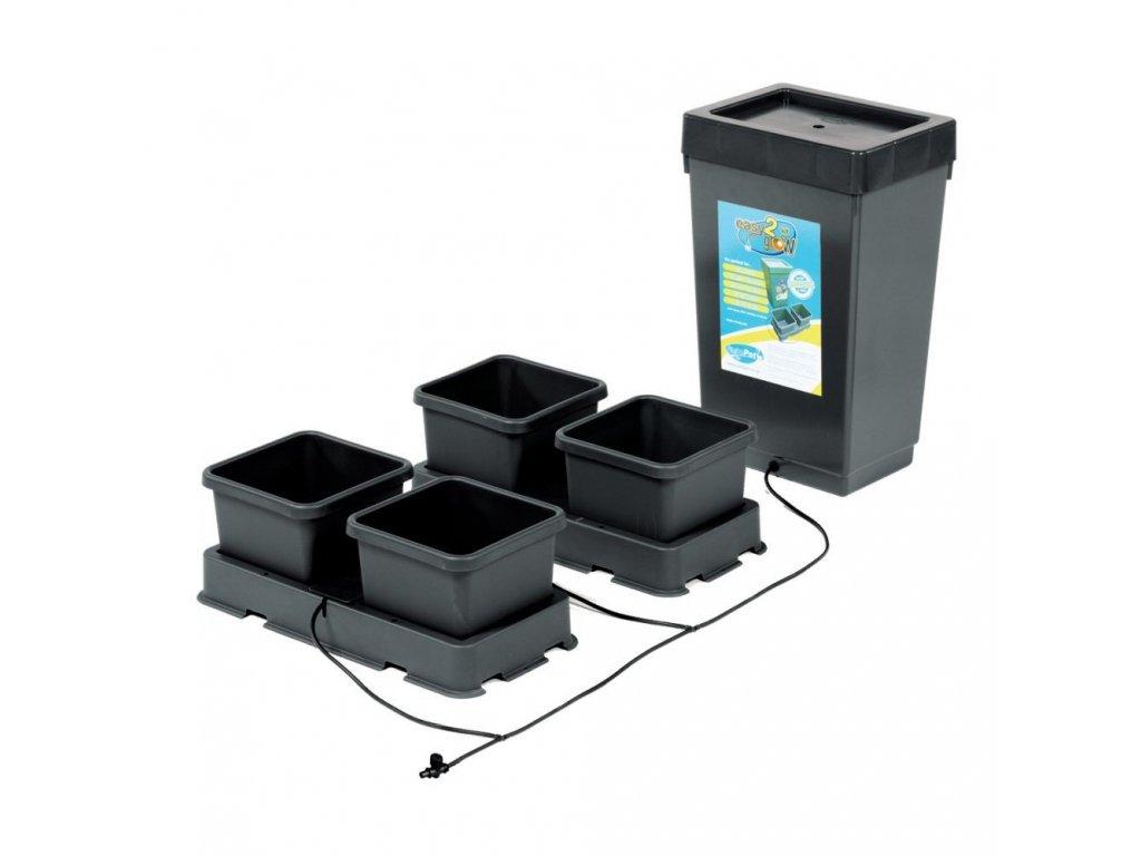 4Pot Easy2grow Kit with 47L Plastic Tank