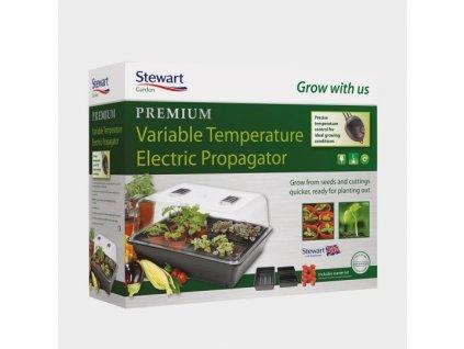 Greenhouse 52x42x24cm - hard plastic, heated with regulation