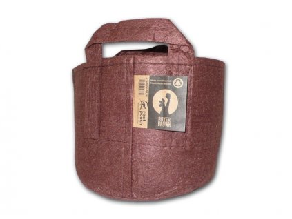 Root pouch Boxer brown textile 16l, non-degrading, 28x26cm with handle
