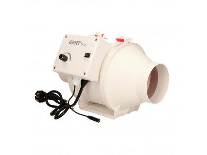 Fan GENT ECco 100mm (280m3 / h), EC motor and regulation