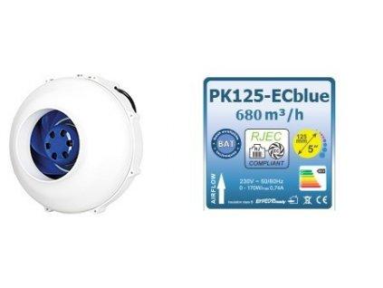 Fan Prima Klima PK125-ECblue, speed regulator, 680m3/h