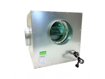 Airfan SOFT-Box Metal 3250 m³/h - maximum soundproof fan including flanges and hooks for mounting