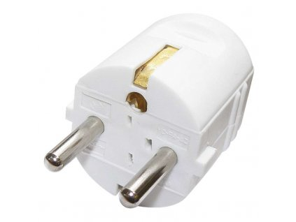 Straight plug for extension cable, white