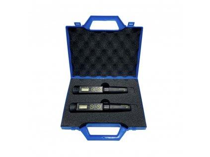 Milwaukee EC66 a pH51 set in a briefcase